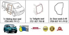 VW EuroVan 1992-2003 H/Quality Seal Kit: Tailgate + Front Doors + Sliding Door