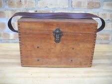 David White Surveying Equipment Field Level in Oak Carrying Case