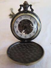 DAD Engraved Chrome Plated 5cm Pocket Gentlemen's Watch Birthday Boyfriend Gift