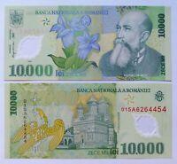RUMANIA 10.000 lei 2000 (2001), P-112b. Plancha UNC. Polimero.