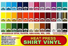 "10 Roll 12"" Heat Press Thermal Transfer Vinyl T- Shirt Cutters or Die Cut"