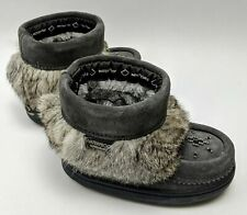 Manitobah Mukluks T6 Waterproof Snowy Owlette Suede Charcoal 6019037