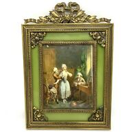 Antique Victorian Hand painted Miniature Erotic Painting /Picture. Signed.