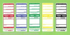 1250 (250 of each colour)  Premium Electrical Adhesive Test Tag Labels