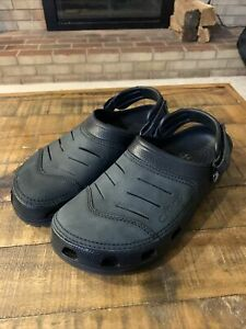 Crocs Mens Casual Stylish Comfy Lighweight Yukon Vista Black Leather Clog SZ 11
