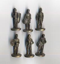 KINDER FERRERO soldatini metallfiguren RITTER 35mm messing complete