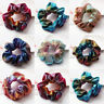 1X Colorful Elastic Bronzing Girl Hair Rope Glitter Ponytail Hair Ring Scrunchie