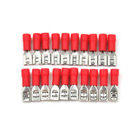 "20PCS 0.187"" 4.8mm Crimp Terminal Terminator Female Spade Connector Red F&F"