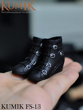 1/6 KUMIK FS-13 Female Shoes Black For 12'' Body Figure Toys Accessories