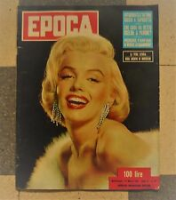MARILYN MONROE ON COVER RIVISTA EPOCA 1954 IN COPERTINA ITALIAN MAGAZINE