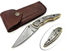 SMITH KRAFT CUSTOM HANDMADE DAMACUS SHARP EDGE LINEAR LOCK FOLDING KNIFE