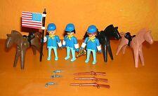 PLAYMOBIL cavalleria accumulare 3 3242 3244 3353 3354 1970er (3) Soldato