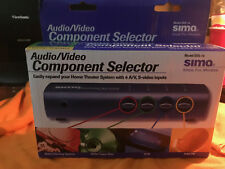 AUDIO/VIDEO MANUAL SWITCHER,COMPONENT SELECTOR 4 Input A/V Switcher RCA S Video