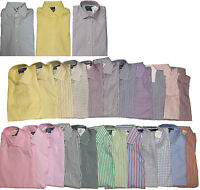Polo Ralph Lauren Mens Regent Classic Fit Long Sleeve Solid Striped Dress Shirt