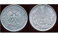 POLOGNE  1 zloty  1988  ( bis )