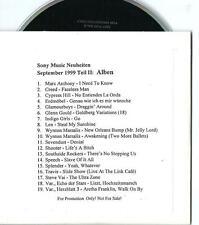 SONY MUSIC GERMAN PROMO CD 1999 CREED INDIGO GIRLS GLENN GOULD TRAVIS