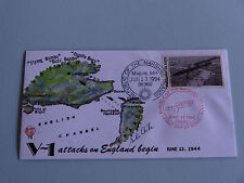 WWII FDC #75 V-1 Attacks England France 1944 * Bombardment England * 50th Anni