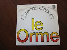 LE ORME Canzone D'Amore Italian Picture Sleeve