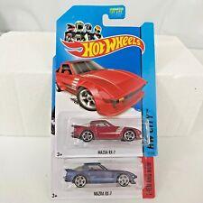 Hot Wheels MAZDA RX/7 '17 Then + Now & '14 City Nightburnerz JDM Racing NMCs