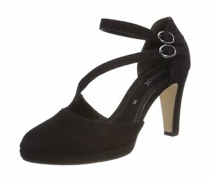 GABOR Womens Black Pump Closed Toe Heels Shoes 81.370.47 Size UK 5 EU 38