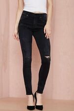 RARE Citizens Of Humanity Rocket High Rise Skinny Black Distressed Jeans 24x29