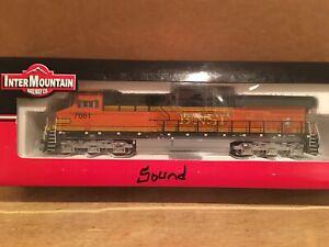 HO Intermountain BNSF ES44DC Powered Diesel Locomotive #7661 DCC SOUND