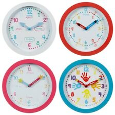 Learn To Tell The Time Wall Clock. 4 Designs. Childrens Kids Bedroom Living Room