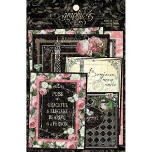 GRAPHIC 45 ~ ELEGANCE ~ Journaling & Ephemera Cards ~ 32 Pieces