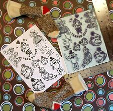 UM Sock Monkey Madness set 9 rubber stamps by Amazing
