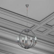 WOFI lámpara colgante corona Valetta 5 LLAMAS Gris E14 Comedor Sala De Estar