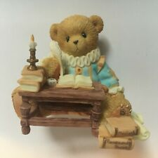 Very Rare Cherished Teddies 4001522 Shakespeare Books Quill European Exclusive !