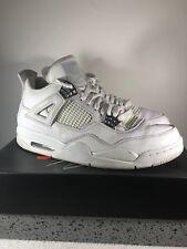 Nike Air Jordan 4 IV Retro White/Metalic Silver 308497 100 SZ 10.5 Pure Money