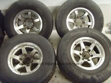 Mitsubishi Shogun Pajero spider alloy wheels wheel set milled 15x7J J 265 70 R15