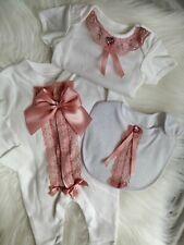 Bling Alas de ángel de Bebé Niñas Calcetines//Banda Para La Cabeza Conjunto 0-6 meses
