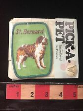 Vintage Old Stock Dog ST. BERNARD Breed Patch (in Pkg ~ Pkg Is Rough) C60I