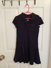 Girls Cherokee S/S Navy Blue School Uniform Dress Pleated Bottom Size 6