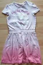GIRLS HELLO KITTY DRESS M&S AGE 5-6 YEAR EX CON PINK OMBRE