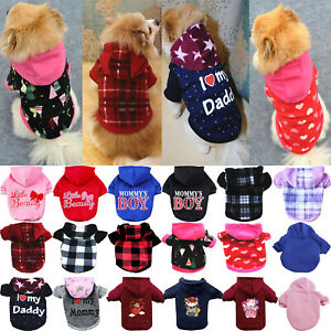 UK Pet Dog Hoodie Sweater Jumper Coat Warm Dogs Clothes Puppy Apparel Costume A+