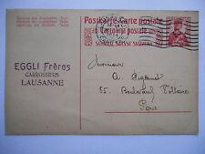 Carte postale - entier postal 10c - Oblitération Lausanne 1914