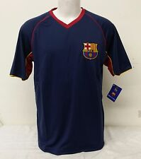 FC Barcelona Team Colors (Navy Blue, Burgundy, Yellow) Men's Short Sleeve Jersey