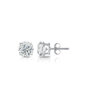 1/4 Ct Diamond Stud Earrings 14k White Gold Over Round Diamond Solitaire Earring
