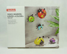 Bunte Deko-Marienkäfer Colori aus Keramik 5er-Set mit Wippfühlern Weltbild