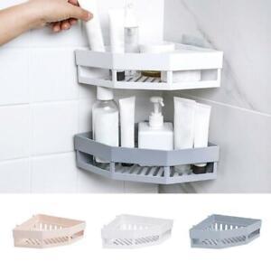 Bathroom Corner Drain Shelves Storage Rack Holder Strong Wall Suction Shelf New