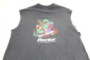 Vintage 80's Agressor Rector Skate Gear Shirt Skateboard Sleeveless Rat Fink XL
