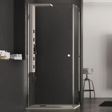 Box doccia 70x90 porta battente cristallo trasparente 70 cm con lato fisso 90 cm