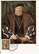 Maximum Card Maximumkarte Germany DDR Painter 1957 Hans Holbein