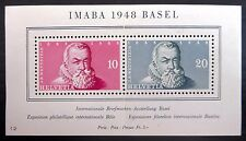 SWEDEN 1948 Basel M/Sheet Mounted in Margin with Centre Fold NB1787