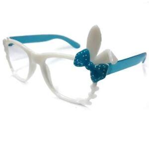 ANT Bunny Frame Design Kids Fashion Glasses Eyewear - WHITE