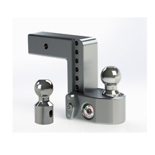 "Weigh Safe WS6-2.5 Adjustable 6"" Drop Hitch Ball Mount w/ Tongue Weight Scale"