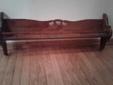 New listing Vintage Solid Wood Wall Shelf With Rail Home & Garden Wall Hanging Display